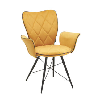 XXXLutz Židle S Područkami Žlutá Černá Hom`in