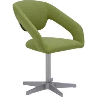 XXXLutz Židle S Područkami Zelená Barvy Nerez Oceli Dieter Knoll