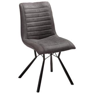 XXXLutz Židle Antracitová Černá Xora