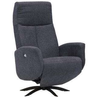 XXXLutz Relaxační Křeslo Textil Antracitová Welnova