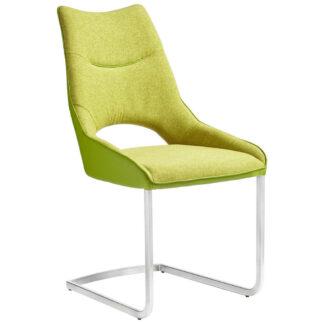 XXXLutz Pohupovací Židle Zelená Barvy Nerez Oceli Novel