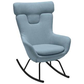 XXXLutz Houpací Židle Kov Textil Modrá Šedá Carryhome