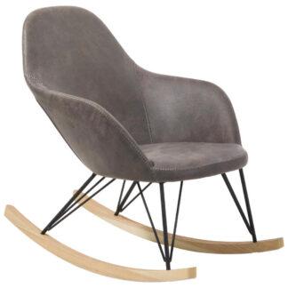 XXXLutz Houpací Židle Dřevo Kov Textil Hnědá Černá Barvy Jasanu Xora