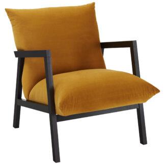 XXXLutz Křeslo Dřevo Textil Žlutá Barvy Wenge Carryhome