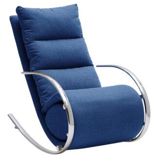 XXXLutz Relaxační Křeslo Kov Textil Kompozitní Dřevo Modrá Xora