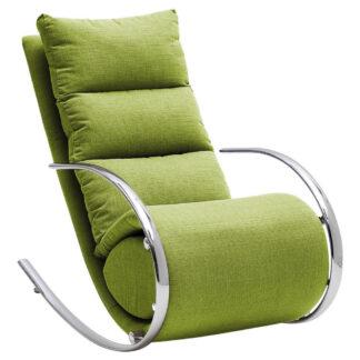 XXXLutz Relaxační Křeslo Kov Textil Kompozitní Dřevo Zelená Xora