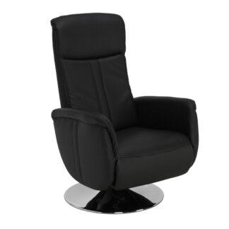 XXXLutz Relaxační Křeslo Kůže Černá Beldomo Premium