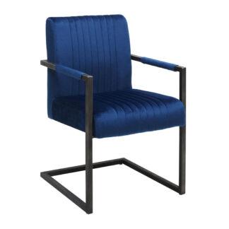 XXXLutz Židle S Područkami Modrá Černá Ambia Home