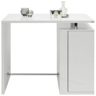 XXXLutz Barový Stůl Barvy Stříbra Bílá Hom`in