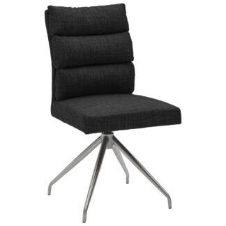 XXXLutz Židle Černá Barvy Nerez Oceli Dieter Knoll