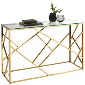 XXXLutz Odkládací Stůl Modrá Barvy Zlata Xora