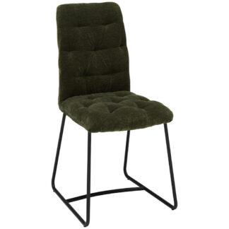 XXXLutz Židle Černá Tmavě Zelená Ambia Home
