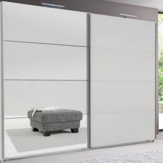 Asko Šatní skříň Easy plus, 270 cm, bílá/zrcadlo