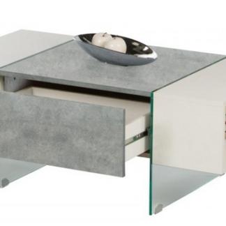 Asko Konferenční stolek Ferrara, šedý beton/bílý lesk