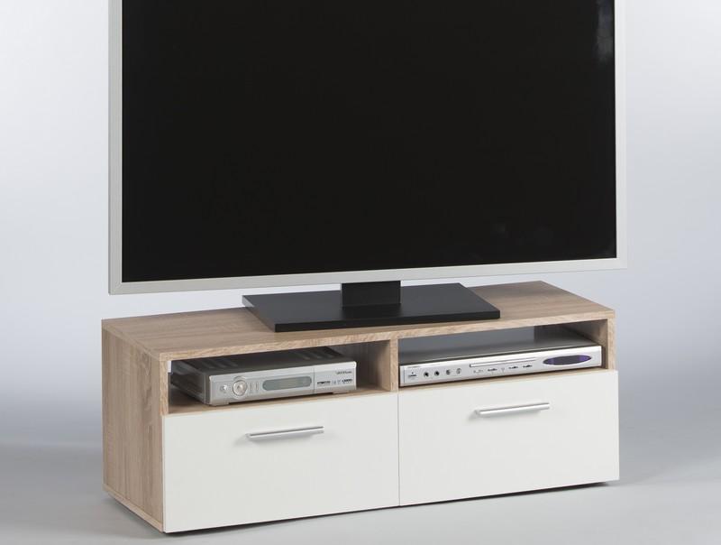 Asko TV stolek Rana, dub sonoma/bílá