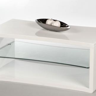 Asko Konferenční stolek Curve, bílý lesk