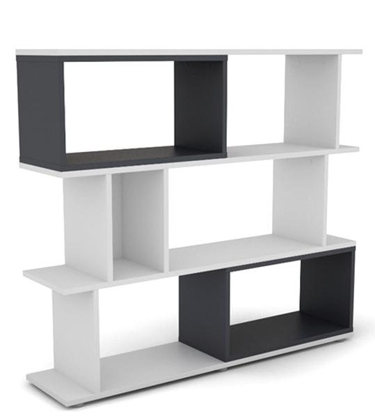 Asko Nízký regál Cubix Mini, bílý/grafitově šedý