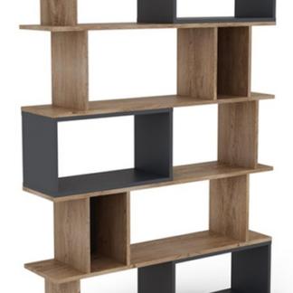 Asko Vysoký regál/knihovna Cubix, dub burgund/grafitově šedý