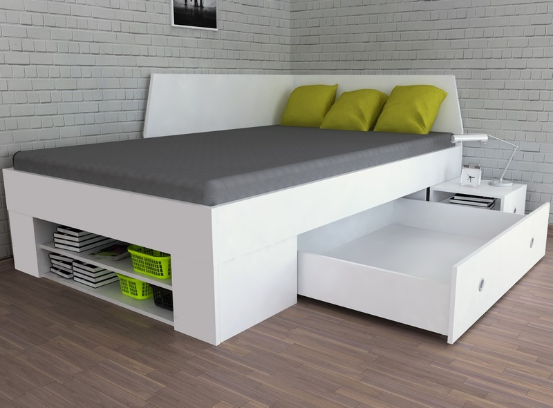Asko Úložná postel se zástěnou Junior 120x200 cm