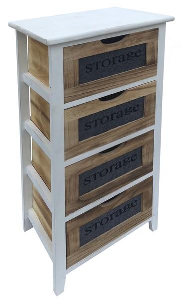 Asko Regál se 4 zásuvkami Storage