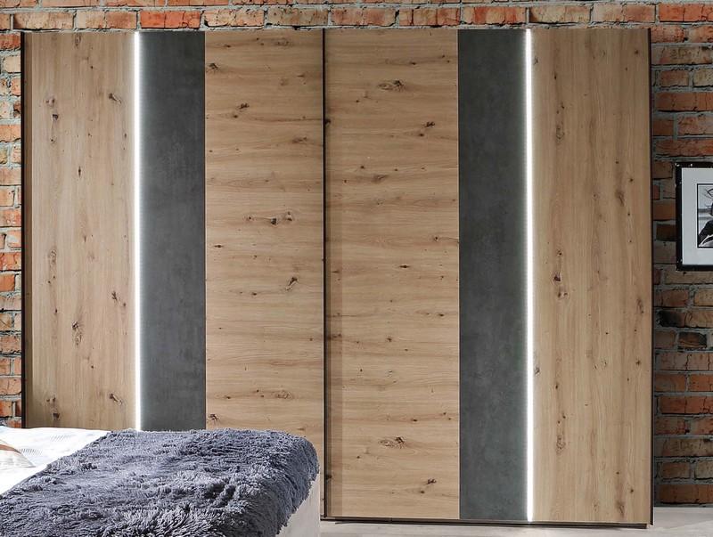 Asko Šatní skříň Fossano, 270 cm, s osvětlením