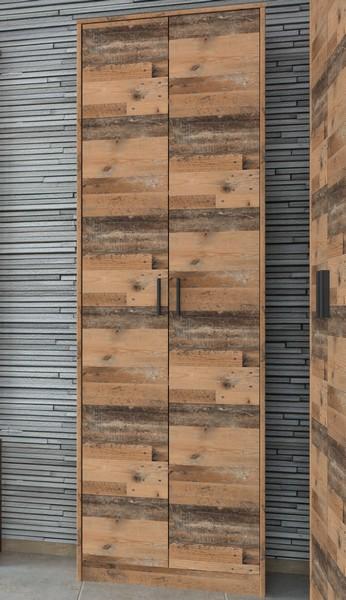 Asko Policová skříň Vincent AS-07, vintage optika dřeva