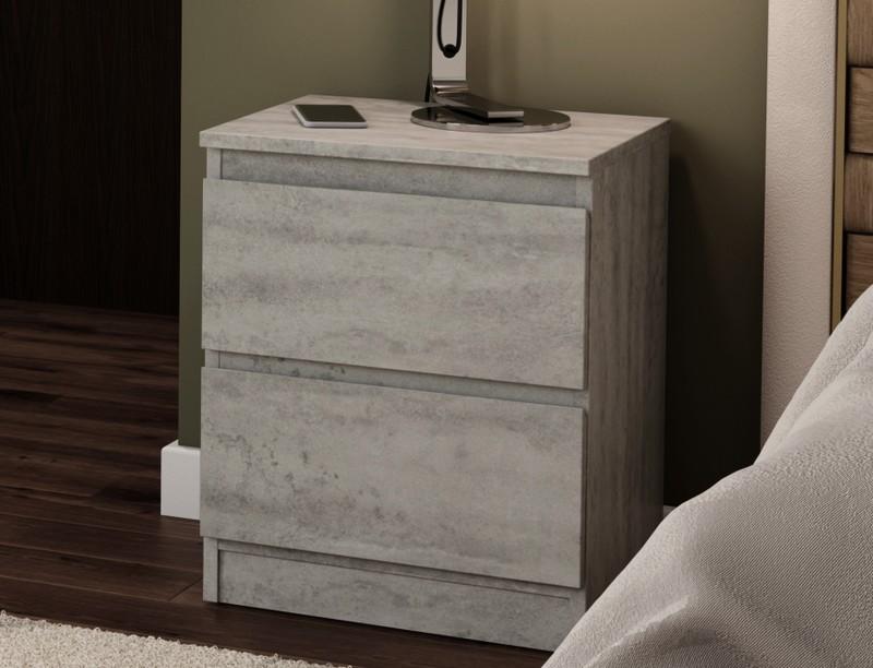 Asko Skříňka/noční stolek Carlos 402S, šedý beton