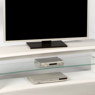 Asko TV stolek Curve, bílý lesk