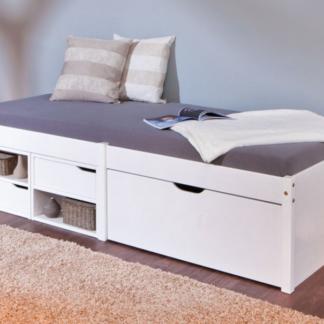 Asko Úložná postel Farum 90x200 cm, bělěná borovice