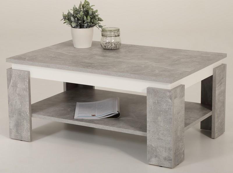 Asko Konferenční stolek Tim 2, šedý beton/bílá