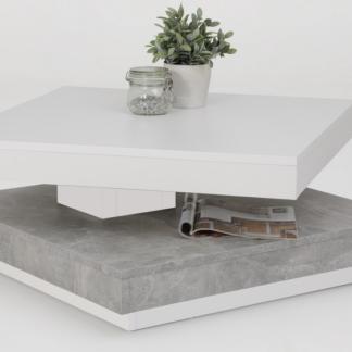 Asko Konferenční stolek Andy, bílý/šedý beton