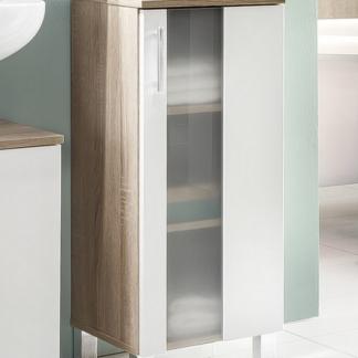 Asko Koupelnová boční skříňka Porto, dub sonoma/bílá