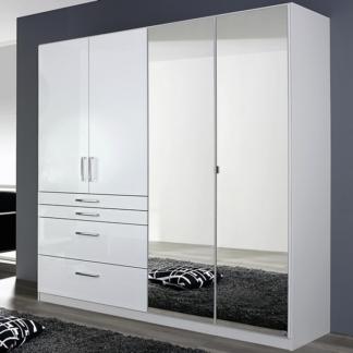 Asko Šatní skříň Homburg, 181 cm, bílá/lesklá bílá