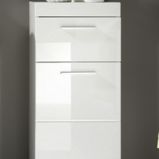 Asko Koupelnová stojací skříňka Amanda 802, lesklá bílá