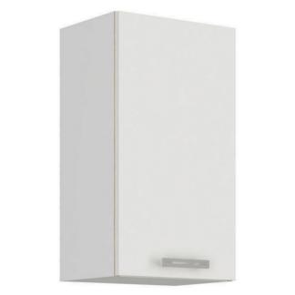 Asko Horní kuchyňská skříňka Latte 40G-72, bílý lesk, šířka 40 cm
