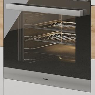 Asko Kuchyňská skříňka pro vestavnou troubu Iconic 60DG, buk iconic/bílý lesk, šířka 60 cm