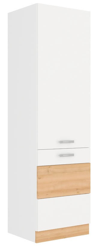 Asko Vysoká kuchyňská skříň Iconic 60DK-210, buk iconic/bílý lesk, šířka 60 cm
