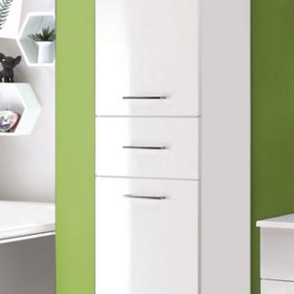Asko Koupelnová vysoká skříňka Splash, lesklá bílá