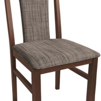 Asko Jídelní židle Sylva, palisandr/černo-hnědá tkanina