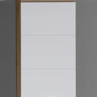 Asko Koupelnová závěsná skříňka Amanda 501, sukový dub/bílý lesk