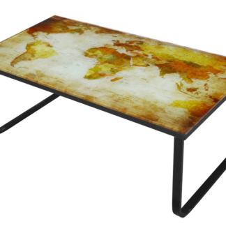 Asko Konferenční stolek Cruz, motiv žlutá mapa