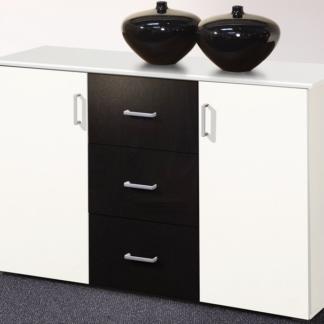 Asko Komoda se zásuvkami Lift, bílá/černá