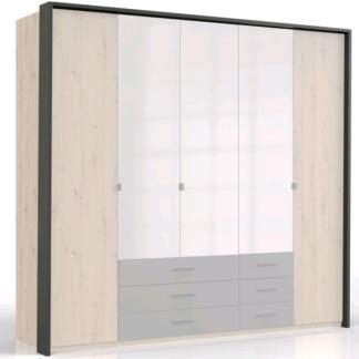 Asko Paspartový rám k šatní skříni Coventry, 228 cm, antracitová ocel