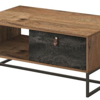 Asko Konferenční stolek Dark, dub ribbeck/černý kámen