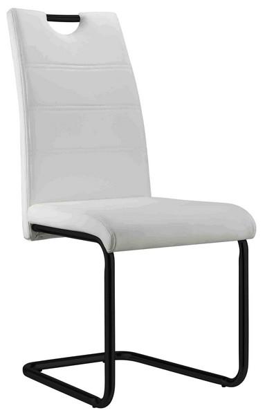 Asko Jídelní židle Queens, bílá ekokůže
