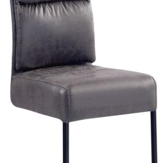 Asko Jídelní židle Chelsea, tmavě šedá vintage látka