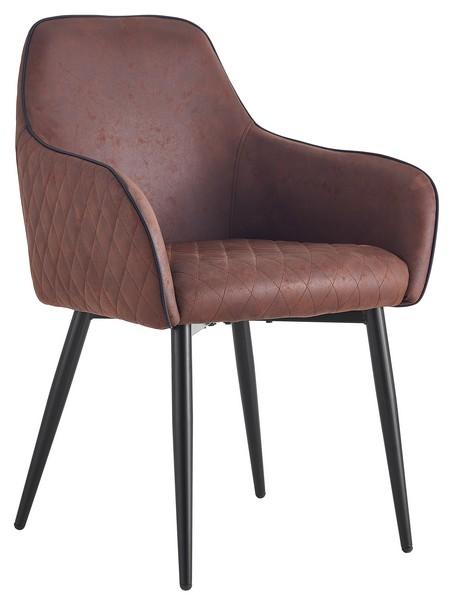 Asko Jídelní židle Colonial, hnědá vintage