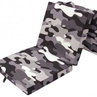 Asko Skládací matrace Samba, černo-šedý vzor