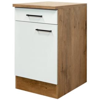 Asko Dolní kuchyňská skříňka Avila US50, dub lancelot/krémová, šířka 50 cm