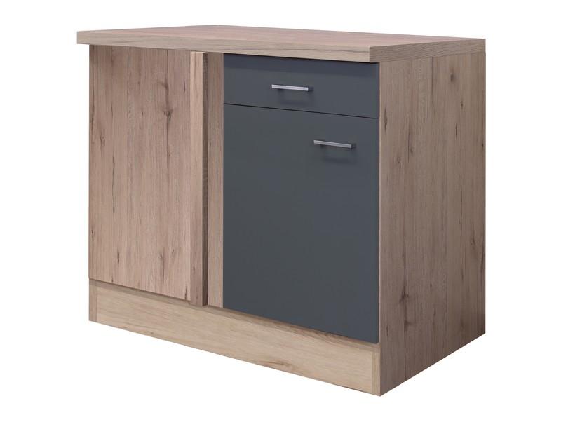 Asko Dolní rohová kuchyňská skříňka Tiago UEBE110, dub sonoma/šedá, šířka 110 cm